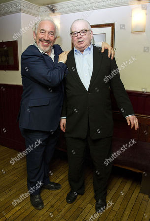 'The Mystery of Charles Dickens' Press Night After Party at Walker's of Whitehall Simon Callow with the Author Peter Ackroyd