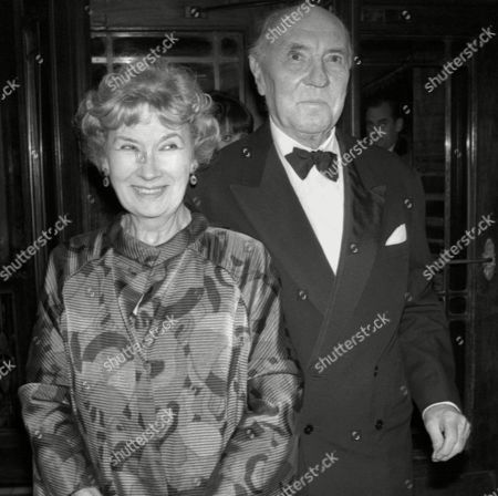 the S W E T Awards (society of West End Theatre Awards Now Known As the Oliviers) at the Cafe Royal Sir Ralph Richardson with His Wife