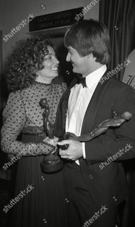 the S W E T Awards (society of West End Theatre Awards Now Known As the Oliviers) at the Cafe Royal Elizabeth Quinn and Trevor Eve