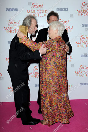 the Second Best Exotic Marigold Hotel Royal World Film Premiere Ronald Pickup Director John Madden Dame Judi Dench
