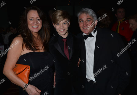 the Soldiering One Trust Awards at Park Plaza Hotel Westminster Bridge London Ronan Parke with His Parents