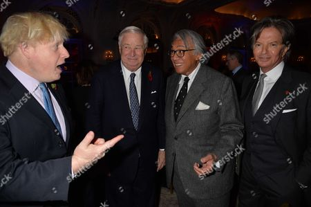 Stock Photo of the Spectator Parliamentarian of the Year Awards Lunch at the Ballroom the Savoy Hotel London Boris Johnson Louis Susman David Tang & Richard Caring