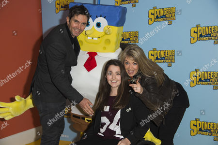 Stock Photo of 'The Spongebob Movie - Sponge out of Water 3d' Gala Screening at the Ham Yard Hotel Lucy Alexander with Her Husband Stewart Castledine and Daughter Kitty Rose