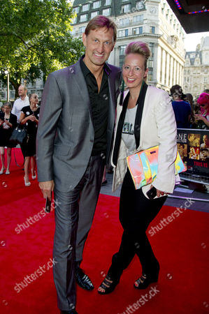 Stock Photo of This is Us 3d World Premiere at the Empire Leicester Square - Inside Access Tony Adams with His Wife Poppy Teacher
