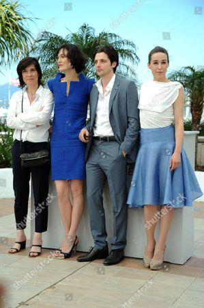 'Three Worlds' Photocall at Palais Des Festivals During the 65th Cannes Film Festival Catherine Corsini Clotilde Hesme Raphael Perzonnaz and Alban Aumard