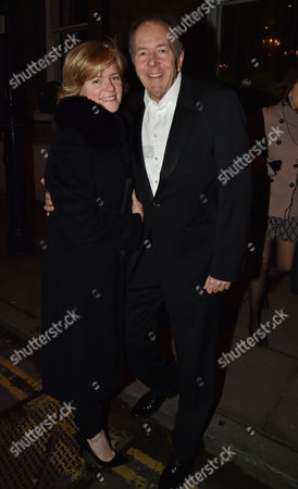 Conservative Black and White Ball at the Brewery Chiswell Street Lord Bruce Dundas with His Wife Ruth Kennedy