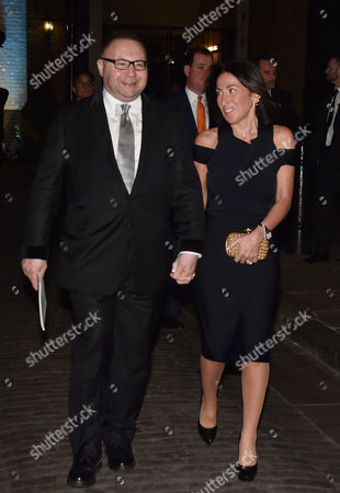 Conservative Black and White Ball at the Brewery Chiswell Street Jonathan Shalit with His Wife Katrina Sedley