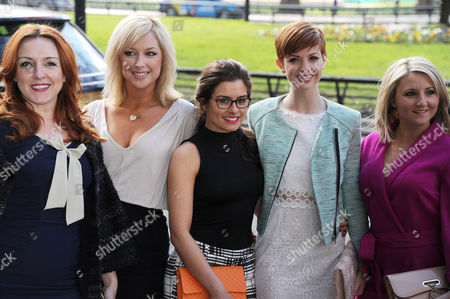 Tric Awards Arrivals at the Grosvenor House Hotel Carli Norris Gemma Bissix Rachel Shenton Lucy Dixon and Jazmine Franks