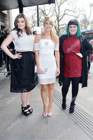 Tric Awards Arrivals at the Grosvenor House Hotel Amanda Clapham (c) and Jessica Ellis