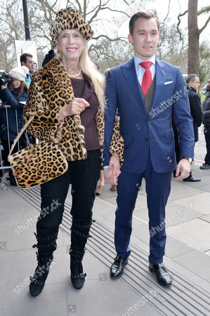 Tric Awards Arrivals at the Grosvenor House Hotel Lady Colin Campbell with Her Son Dima Campbell