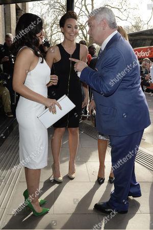 Tric Awards Arrivals at the Park Lane Hotel Nazaneen Ghaffar; Isabel Webster and Eamonn Holmes