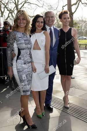 Tric Awards Arrivals at the Park Lane Hotel Jacquie Beltrao; Nazaneen Ghaffar; Eamonn Holmes and Isabel Webster