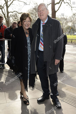 Stock Photo of Tric Awards Arrivals at the Park Lane Hotel Peter Sissons with His Wife Kate