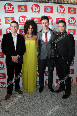 Tv Choice Awards 2013 at Thedorchester Hotel Carl Au Adiza Shardow Shane O'meara and Jody Latham - Waterloo Road