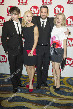 Tv Choice Awards 2014 at the Hilton Hotel Park Lane Danny Dyer Maddy Hill Sam Strike and Kellie Bright