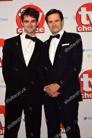 Tv Choice Awards 2015 at the Park Lane Hilton Tony Gardner (r)