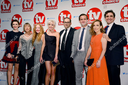 Tv Choice Awards 2015 at the Park Lane Hilton Charlotte Ritchie Jenny Agutter Victoria Yeates Helen George Ben Caplan Jack Ashton Laura Main and Stephen Mcgann