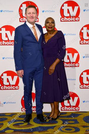 Tv Choice Awards 2015 at the Park Lane Hilton Chris Walker and Lorna Laidlaw