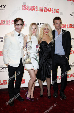 Uk Gala Premiere of 'Burlesque' at the Empire Leicester Square Director Steven Antin Kristin Bell Christina Aguilera and Cam Gigandet