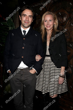 Stock Picture of Uk Premiere Afterparty For 'Me and Orson Welles' at Kanaloa Fleet Street Ben Chaplin and Megan Dodds