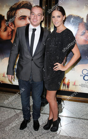 Uk Premiere of 'The Death and Life of Charlie St Cloud' at the Empire Leicester Square Danielle Lloyd with Her Boyfriend Jamie O'hara