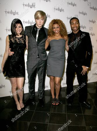 Stock Picture of Uk Premiere of 'Twilight' at the Vue Leicester Square Britannia High - Sapphire Elia Matthew James Thomas Rana Roy and Marcquelle Ward