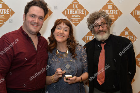 Uk Theatre Awards at Guildhall City of London Andrew Mctaggart Marissa Mcteague and Paul Michael Glaser