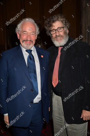 Uk Theatre Awards at Guildhall City of London Simon Callow (the Stage Award For Outstanding Contribution to British Theatre) and Paul Michael Glaser