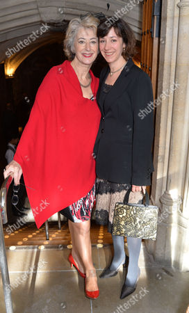 Uk Theatre Awards at Guildhall City of London Maureen Lipman with Her Daughter Amy Rosenthal