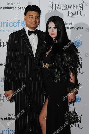Unicef Halloween Party at One Mayfair Mohammad Zahoor with His Wife Kamaliya