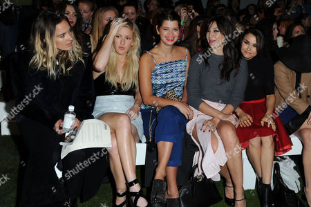 Topshop Unique Ss14 at the Top Shop Space Regents Park Front Row - Jess Mills Ellie Goulding Daisy Lowe Pixie Geldof Daisy Lowe and Samantha Barks