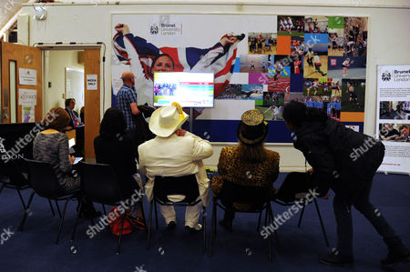 Stock Photo of Uxbridge and South Ruislip Parliamentary Election Count at Brunel University Howling Laud Hope Candidate For Uxbridge Watches the Election Counts