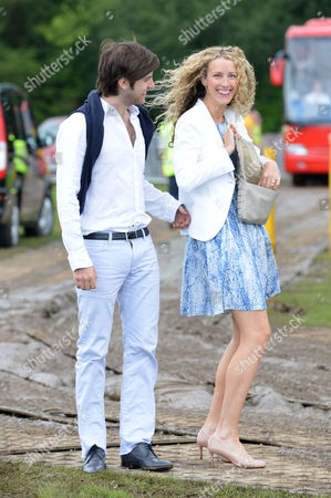 Veuve Clicquot Gold Cup Final Polo at Cowdray Park West Sussex Jack Freud with His Wife Kate Melhuish