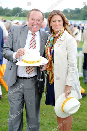 Veuve Clicquot Gold Cup Final Polo at Cowdray Park West Sussex Andrew Neil with His Girlfriend Susan Nilsson