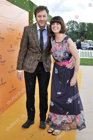Veuve Clicquot Gold Cup Final Polo at Cowdray Park West Sussex Chris O'dowd with His Girlfriend Dawn Porter