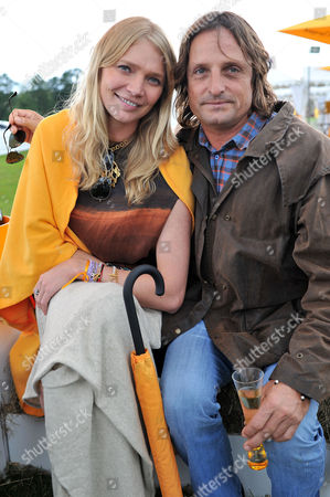 Veuve Clicquot Gold Cup Final Polo at Cowdray Park West Sussex Jodie Kidd with Her Boyfriend Andrea Vianini