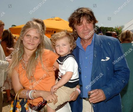 Veuve Clicquot Gold Cup Oliver Tobias with His Wife Arabella and Son Luke