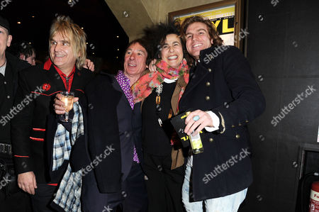 'Vinyl' London Gala Screening at the Empire Leicester Square Mike Peters Steve Diggle Sara Sugarman and Miguel Demelo