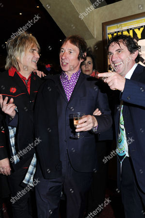 'Vinyl' London Gala Screening at the Empire Leicester Square Mike Peters Steve Diggle and Phil Daniels