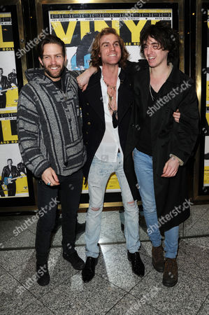 'Vinyl' London Gala Screening at the Empire Leicester Square the Tribes - Dan White Miguel Demelo and Johnny Lloyd