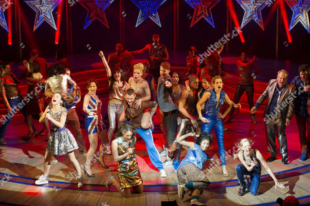 Stock Picture of Viva Forever First Night Curtain Call at the Piccadilly Theatre Cast Take A Curtain Call with Dominique Provost-chalkley Hannah John-kamen Sally Anne Triplett Siobhan Athwal Lucy Phelps
