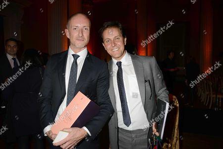 Walpole Awards at the Banqueting House Whitehall Adam Brown Orlebar Brown Winner Best Emerging British Luxury Brand with His Partner Tom Konig-oppenheimer