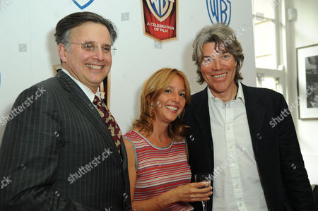 Warner Brothers 90th Anniversary Drinks Reception at Bafta Piccadilly Danna Harman and Lawrence Elman