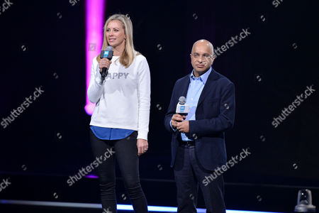 We Day Wembley Arena Holly Branson and Lord Rumi Verjee