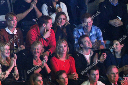 Stock Image of We Day Uk Audience at Wembley Arena Isabella Calthorpe Sam Branson Cressida Bonas and Harry Prince of Wales Holly Branson Fred Andrewes