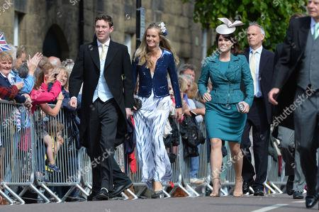 Wedding at Alnwick Northumberland Jack Brooksbank Cressida Bonas and Princess Eugenie of York
