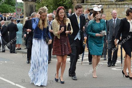 Wedding at Alnwick Northumberland Cressida Bonas Jack Brooksbank and Eugenie Princess of York