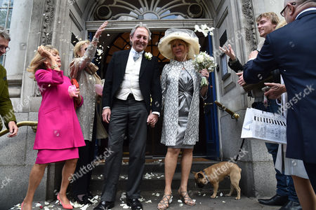 30 04 2015 Wedding of Patti Boyd (ex- Mrs George Harrison and Eric Clapton) to Her Partner of 25 Years Rod Weston at Kensington and Chelsea Register Office Kings Road West London