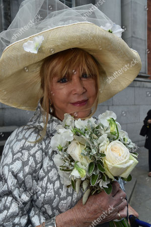 30 04 2015 Wedding of Patti Boyd (ex- Mrs George Harrison and Eric Clapton) to Her Partner of 25 Years Rod Weston at Kensington and Chelsea Register Office Kings Road West London the Bride
