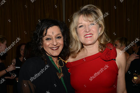 Daily Mail Wellbeing of Women Inspirational Women of the Year at the Marriott Hotel Grosvenor Square Meera Syal and Amanda Ross